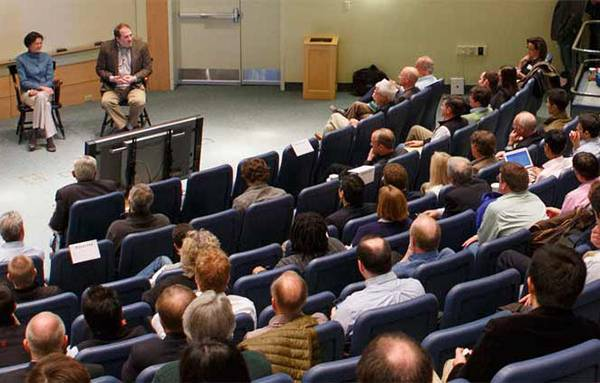 Conference in Tuck classroom