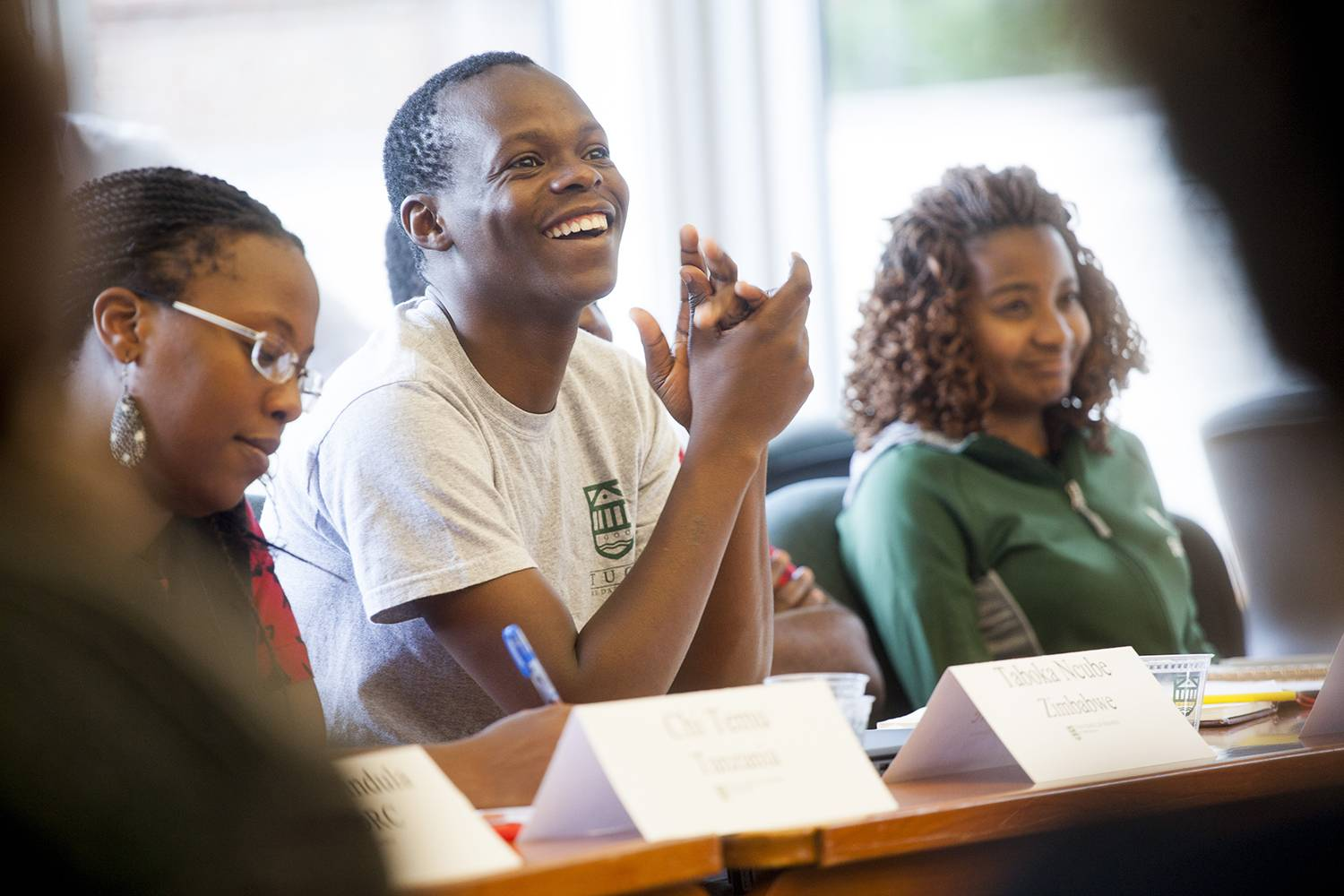 This year's Mandela Washington Fellows program included five leadership sessions at Tuck.