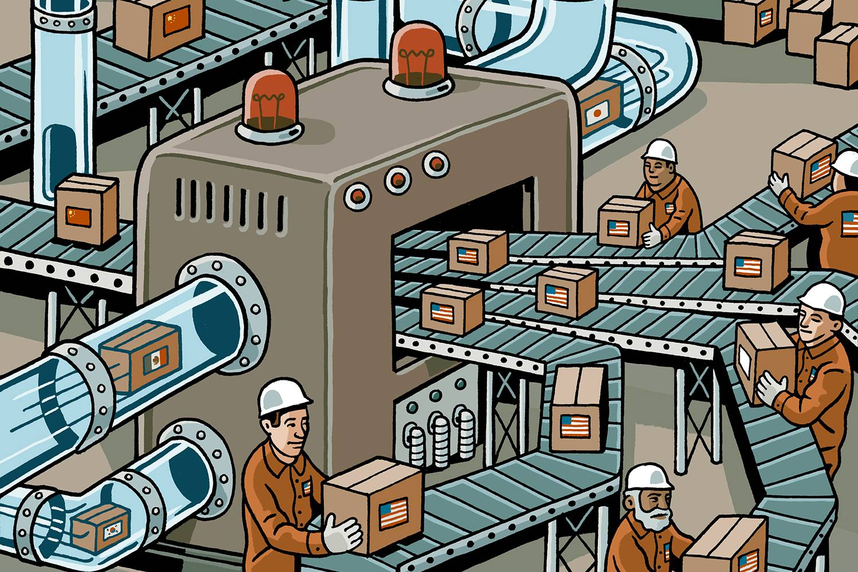 Illustration of globalization