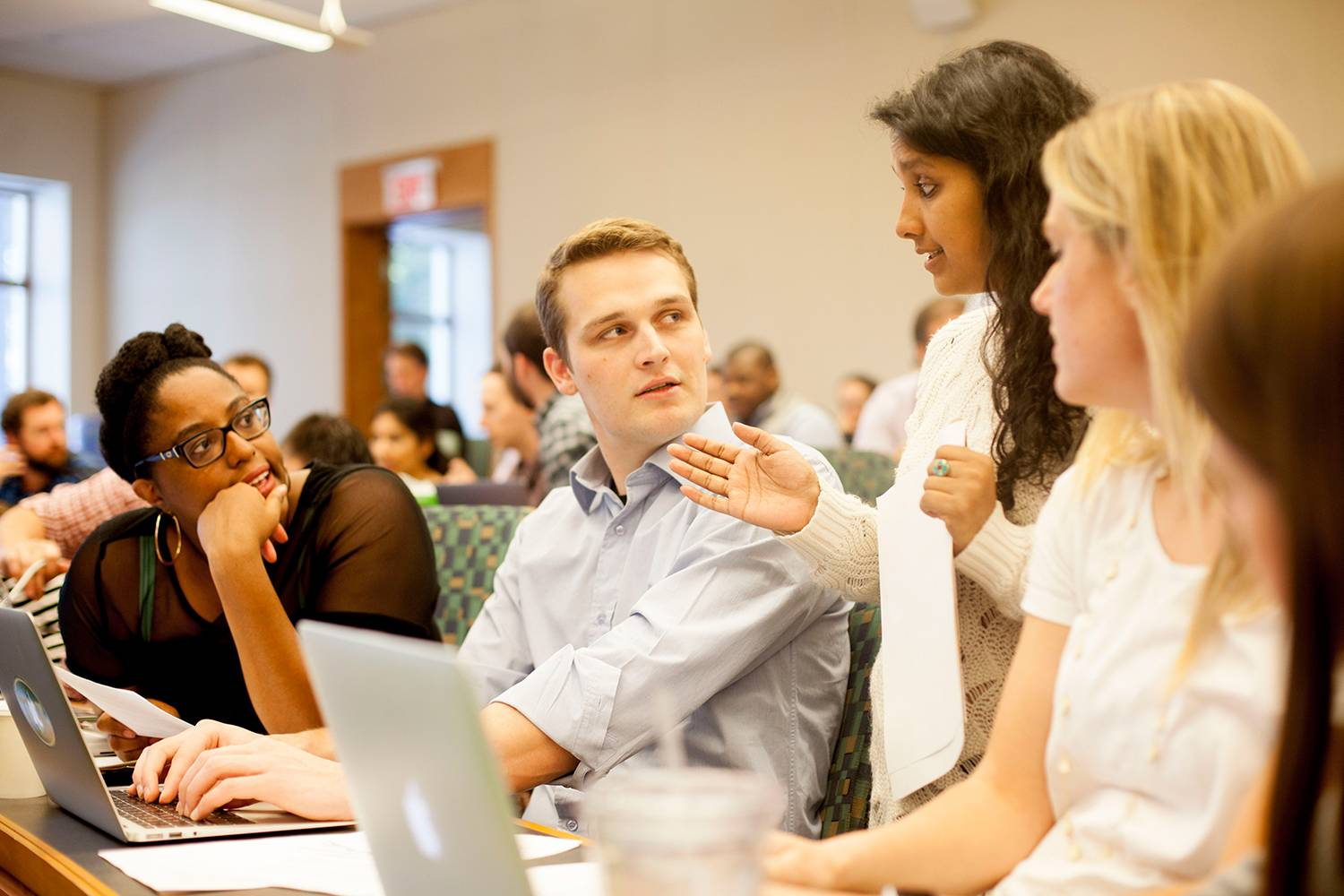 Students in Classroom at Tuck School of Business