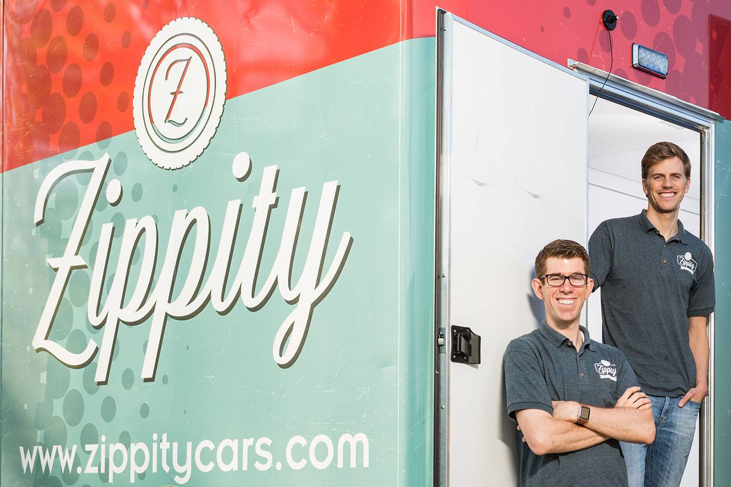 Zippity co-founders Russ Walker T'17 and Edward Warren T'17