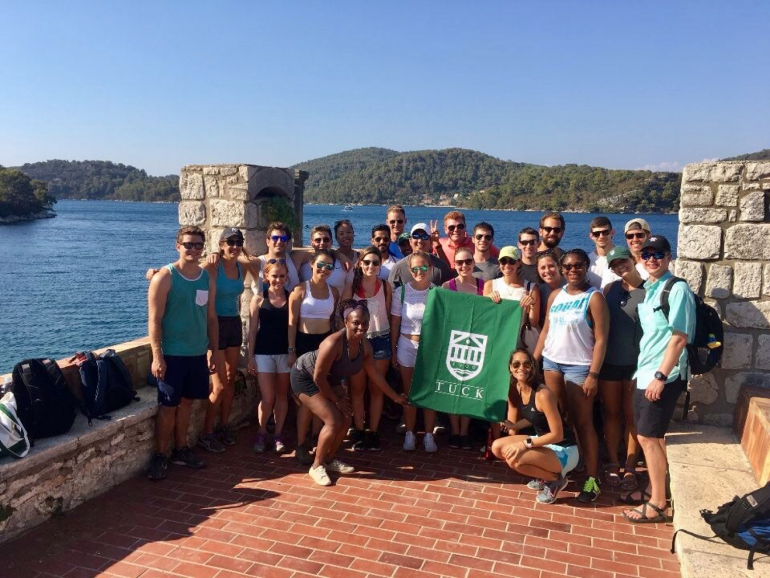 Tuck Students on an international adventure trip to Croatia