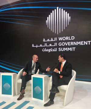 Tuck students at World Government Summit