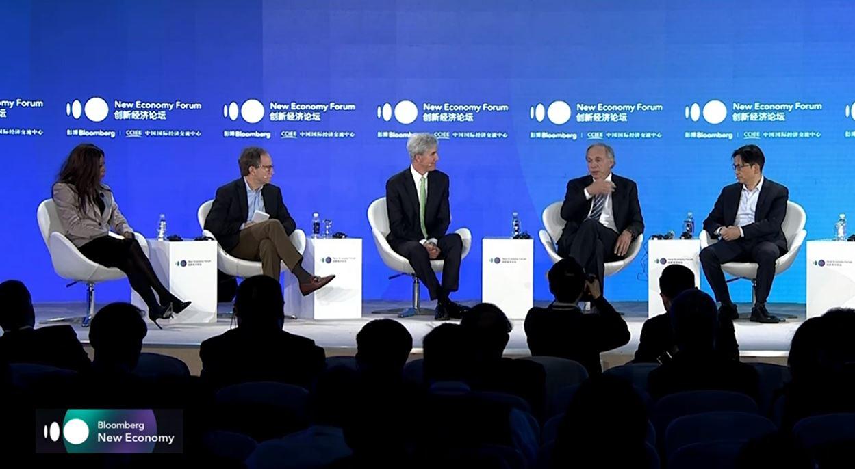 Tuck Dean Matthew Slaughter Moderates Bloomberg New Economy Panel