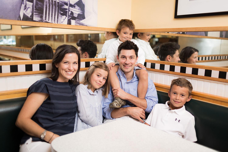 Jarett Berke T'17 with family