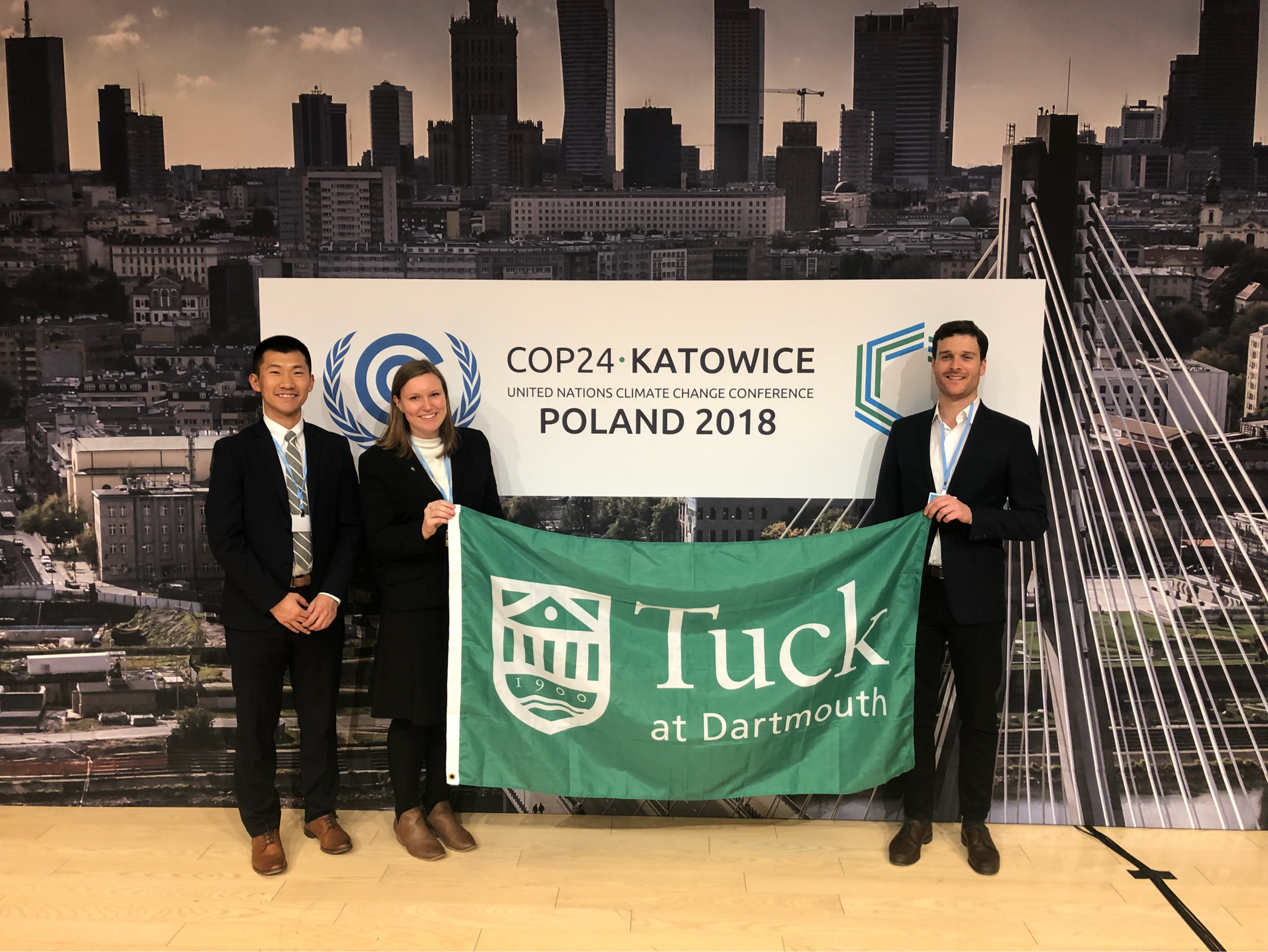 Tuck Students in Poland for Conference of the Parties