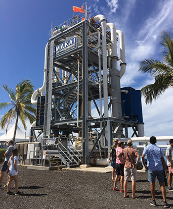 Tuck students visiting makai ocean engineering