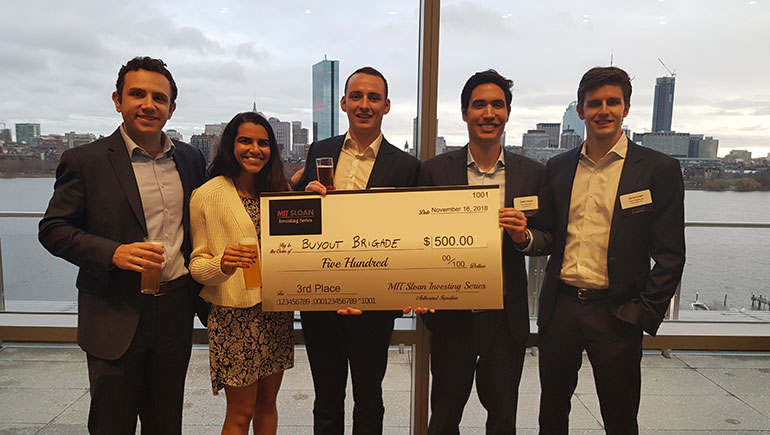 Tuck Team Achieves Success at MIT Private Equity Competition