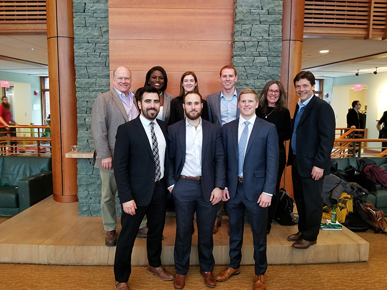 Students and CPEE staff at 2018 Private Equity Conference
