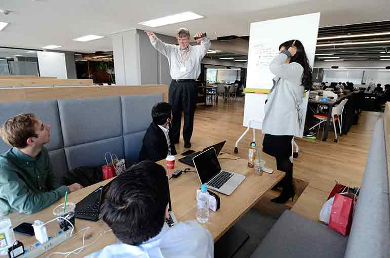 Startup office space in Tokyo Japan