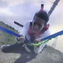 Tuck MBA alumna Lauren Shen T'17 bungee jumping