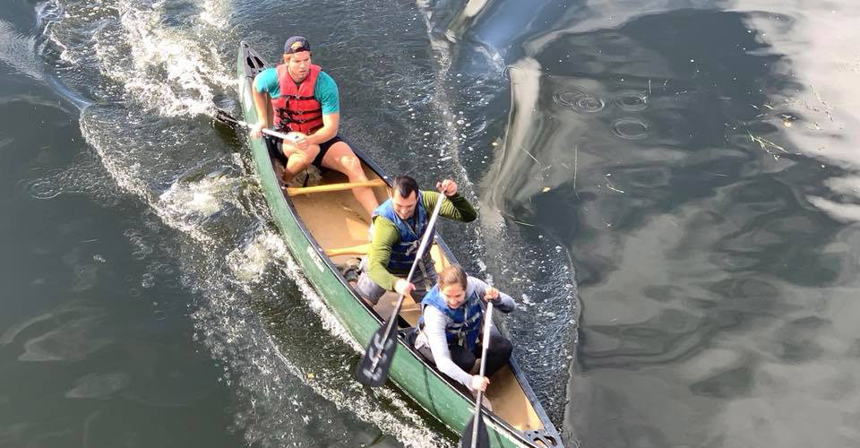 The Inaugural Tuck Canoe Race