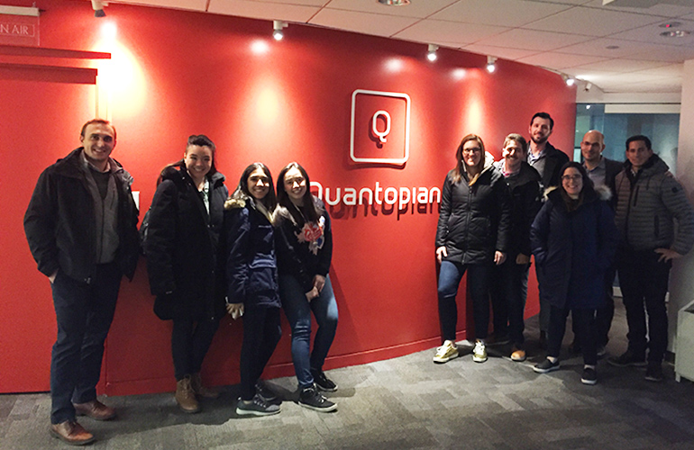 Tuck students visit Quantopian on career trek to Boston