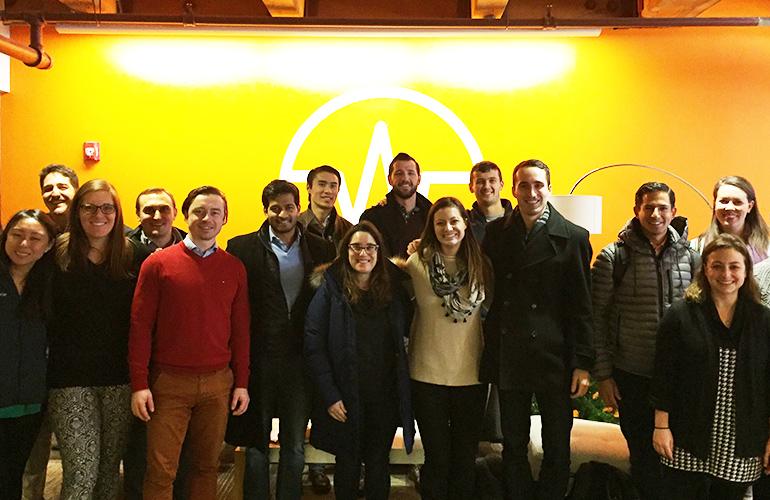 Tuck students visit Wellfram in Boston