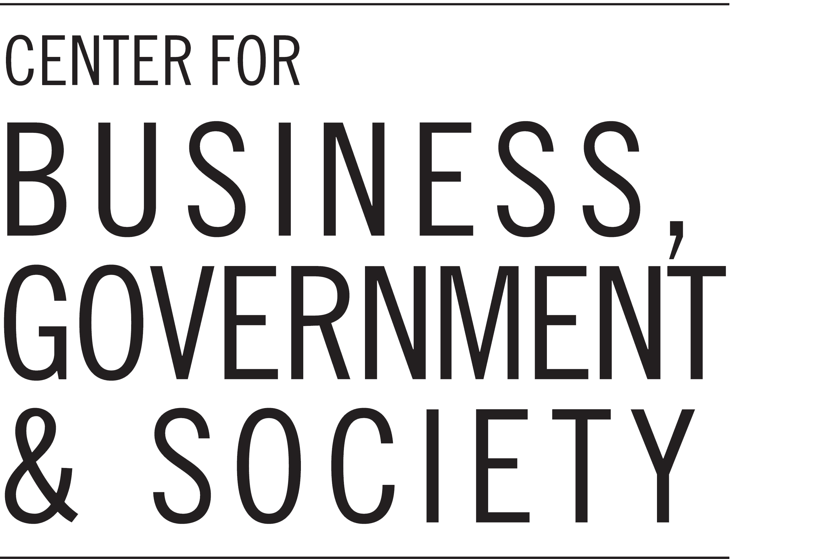 Center for Business, Government & Society logo