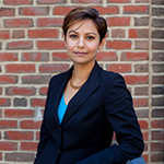 Eesha Sharma, associate professor of business administration and the Paul E. Raether T'73 Faculty Fellow
