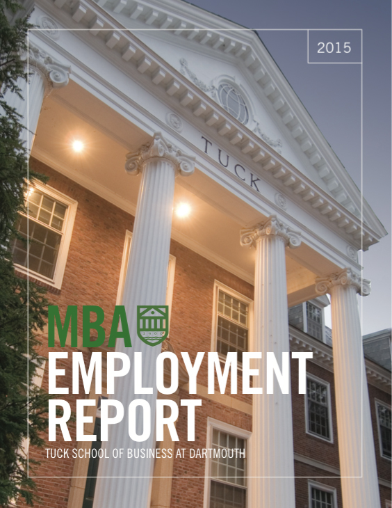2015 Tuck MBA Employment Report