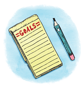Goals Notepad illustration